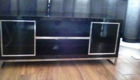 Black TV Unit with Matching coffee table