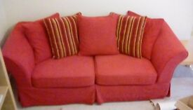 Immaculate Quality Red 3 Seater Sofa
