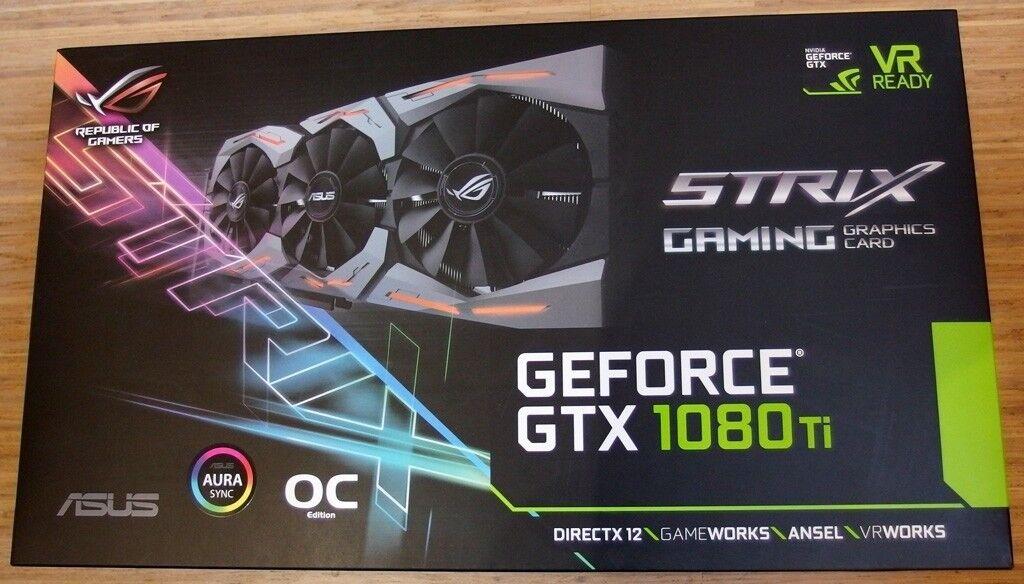 BRAND NEW ASUS NVIDIA ROG STRIX GTX 1080TI O11G OC GAMING GRAPHICS CARD