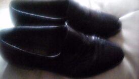 Pierre cardin black,slip on mens shoes