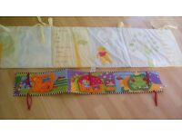 Disney baby Cot bumper and Littlelove pram moses basket bumper- lovely condition