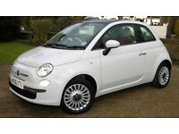 Fiat 500 1.2 lounge. 63 plate. 30,000 miles. 1 owner