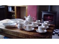 19 piece Royal Doulton Strawberry Fayre breakfast set.