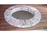 habitat cohen round recycled mirror new in box