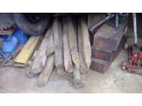 Various reclaimed oak beams