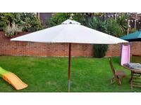 Garden umbrella parasol in cream £10.00