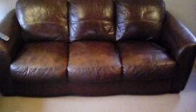 Leather 3 & 2 brown suite