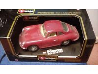 Burago porsche 356b coupe (1961) 1/18 old model car