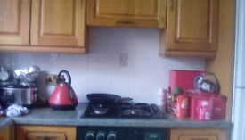 6 double units 6 bottom units sink gas hob oven and work tops
