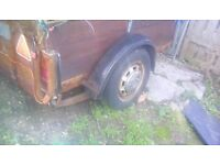 A good strong 6x4 feet car trailer leaf springs recent tyres