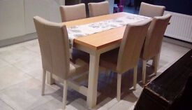NEW Schreiber Dining Table and 6 Chairs - Bargin (RRP £1447)