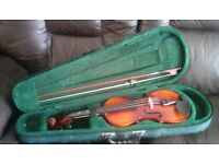 Two childs violins for sale and cases