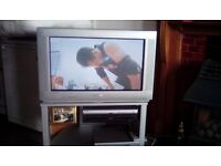 Phillips 32 inch wide screen tv and stand