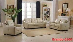 GENUINE LEATHER SOFA SET ON HUGE SALE!!!CALL 4167437700