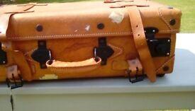Brown vintage style suitcase