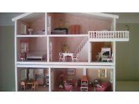 Retro Scandinavian-style Lundby dolls house