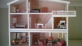 Fully furnished dolls house in excellent condition