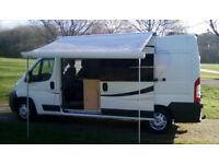 Citroen Relay 2 berth campervan, 4/6 berth with supplied driveaway awning 19700 miles.