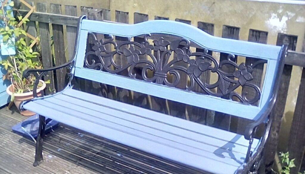 Brilliant Wrought Iron And Wooden Garden Bench In Dundee Gumtree Inzonedesignstudio Interior Chair Design Inzonedesignstudiocom