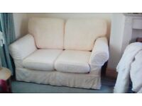 Two Quality Seater Sofas With Loose Covers