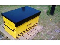 STEEL SECURITY TOOL BOX. TWIN. LOCKING. EXCELLANT CLEAN CONDITION.