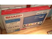 Sharp 49 inch smart LED tv Freeview HD *Brand new sealed box * 12 months warranty