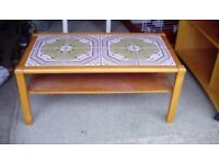 Coffee table - green tiled top