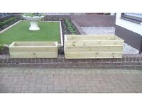 PLANTERS FOR GARDEN , PATIOS,DECKING,TREATED TIMBER