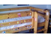 Flexa mid sleeper single bed frame