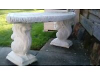 Stone Squirrel Curved Bench Coventry £30