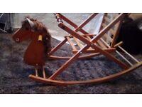 Vintage wooden rocking horse