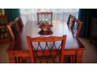 Dining room furniture - table, chairs & sideboard