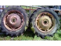 Massey Ferguson rear tractor wheels 11 x 28 £80 for pair