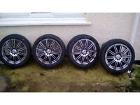 4 rip speed 10 stud universal alloys with brand new centara tyres