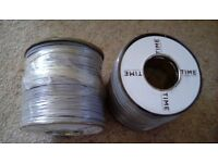 2 X 100 METRE ROLLS OF TWIN FIG 8 CAR RADIO / HI-FI SPEAKER LOW VOLTAGE CABLE