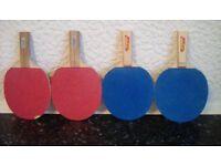 4 table tennis bats vgc £5