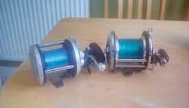 Fishing reels ,boat and shore