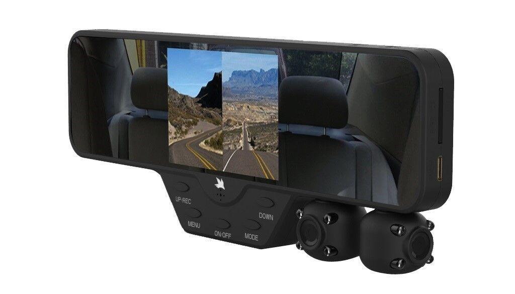 falcon zero f360 hd dvr dual dash cam rear view mirror 1080p camera video ebay. Black Bedroom Furniture Sets. Home Design Ideas