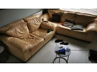 Used cream leather sofas