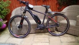 """Cube Electric mountain bike for sale 18"""" frame 27"""" tyres, currently on Continental road tyres"""