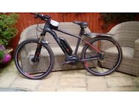 "Cube Electric mountain bike for sale 18"" frame 27"" tyres, currently on Continental road tyres"