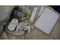 Nintendo wii with nunchucks and accesories can deliver