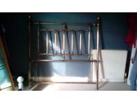 Brass double hedboard