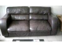Pair of john lewis leather sofas