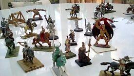 Miniature war games figures