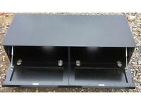 Black glass TV stand. Free delivery