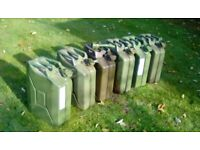 Jerry cans 20 litre 6 available....3 for £35...6 for £65