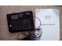 Alesis Sr-16 iconic 80's drum machine, power & manual - working