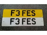 F3 FES Fe Fe / Fiona / Fi Fi Private personalised cherished number Plate Present