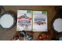 Xbox360 skylanders and skylanders giant games, 2 portals, 4 giants and 24 skykanders
